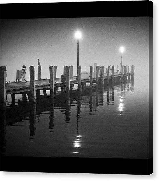 Wisconsin Canvas Print - Early Morning Fog In Lake Geneva by Aran Ackley