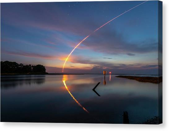 Early Morning Launch Canvas Print