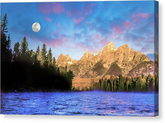 Early Morning On Snake River Canvas Print