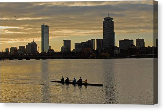Early Morning On The Charles River Canvas Print