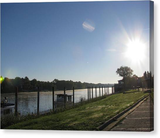 Early Morning On The Savannah River Canvas Print