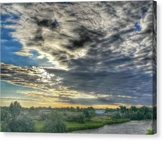 Early Morning Over The North Platte Canvas Print by Chris Short