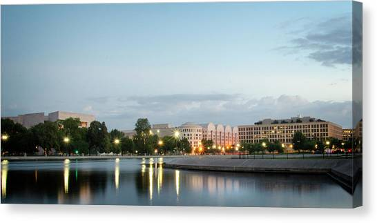 Early Morning Reflection In Washington D.c. Canvas Print