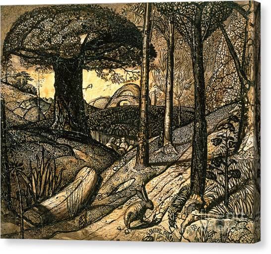 Tree Canvas Print - Early Morning by Samuel Palmer