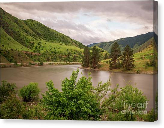 Early Morning Smoothy Waterscape Art By Kaylyn Franks  Canvas Print
