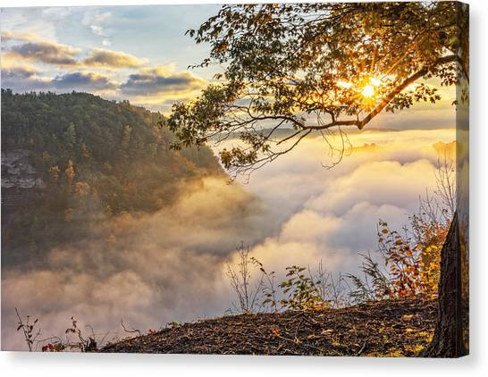 Early Morning Sunrise At Letchworth State Par Canvas Print