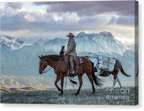 Early October Hunt Wild West Photography Art By Kaylyn Franks Canvas Print
