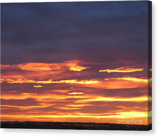 Early Prairie Sunrise Canvas Print