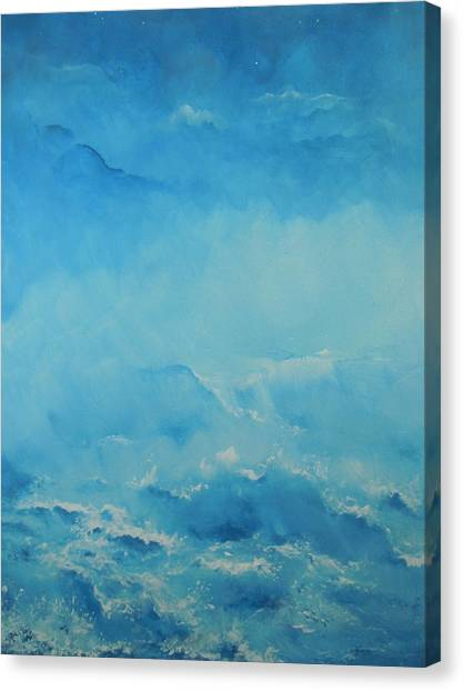 Early Shoreline Fog Canvas Print