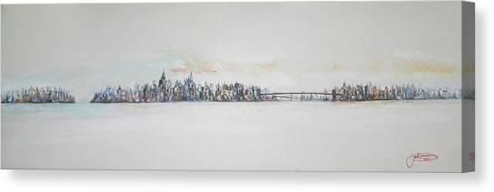 Early Skyline Canvas Print