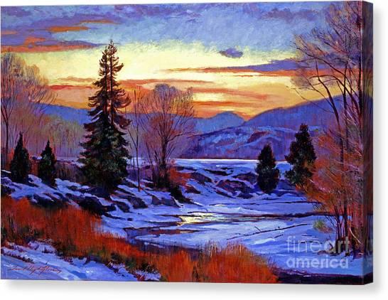 Early Spring Daybreak Canvas Print by David Lloyd Glover