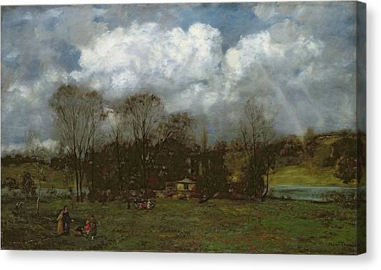 Early Spring Canvas Print - Early Spring by Hans Thoma