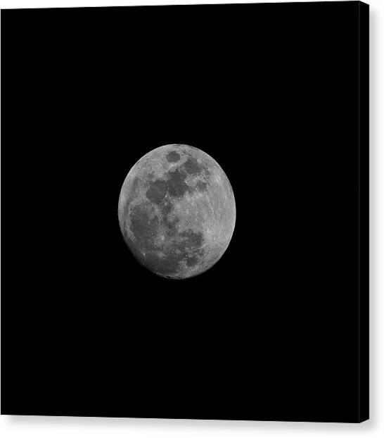 Early Spring Moon 2017 Canvas Print