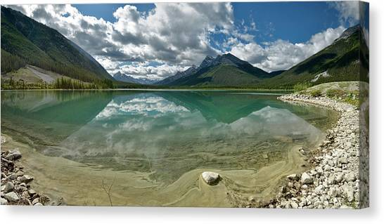 Early Summer Day On Goat Pond Canvas Print