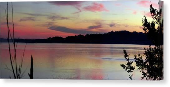 Early Whidbey Island Sunset  Canvas Print by Mary Gaines
