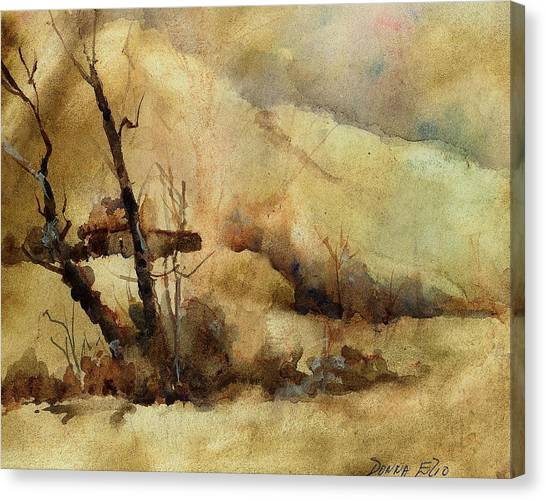 Early Winter Canvas Print by Donna Elio