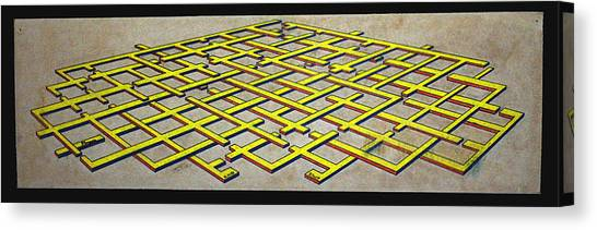 Early Work 3d Maze Canvas Print by Morgan Rex