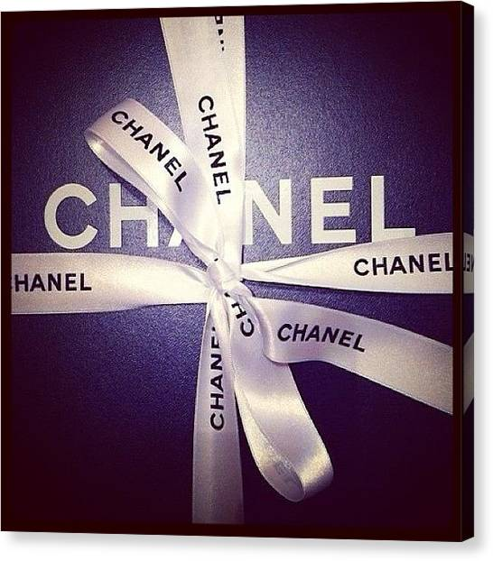 Holidays Canvas Print - Early Xmas Present! 😍 #chanel by Myrtali Petrocheilou