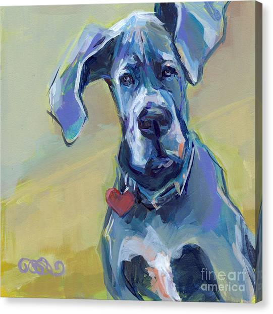 Great Danes Canvas Print - Ears by Kimberly Santini