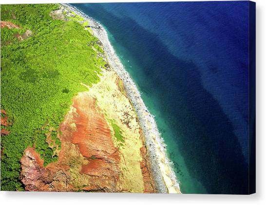 Earth Below, Na Pali Coast, Kauai Hawaii Canvas Print
