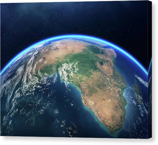 South Africa Canvas Print - Earth From Space Africa View by Johan Swanepoel