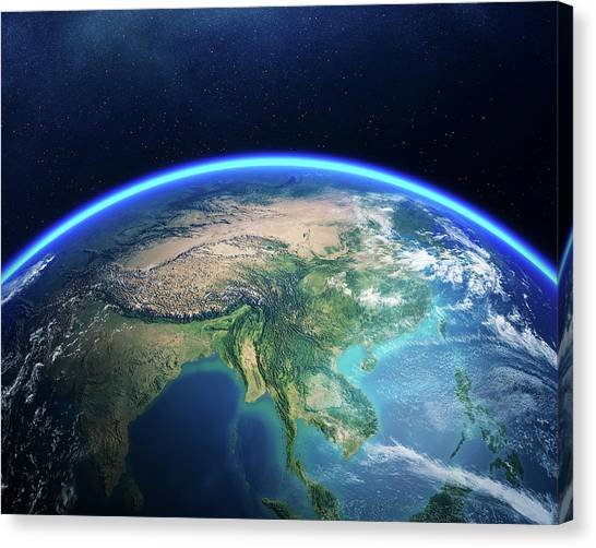 Japan map canvas prints fine art america japan map canvas print earth from space asia view by johan swanepoel gumiabroncs Images