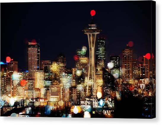 Earth Hour Spots A354 Canvas Print by Yoshiki Nakamura