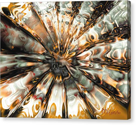 Earth Impact Canvas Print by Artist   McKenzie