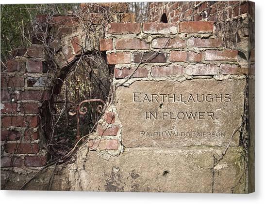 Bricks Canvas Print - Earth Laughs In Flower Wall by Tom Mc Nemar