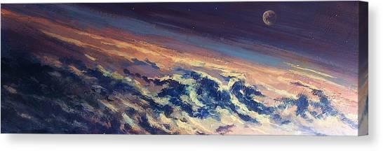 Earth Light Series Lights On  Canvas Print by Len Sodenkamp