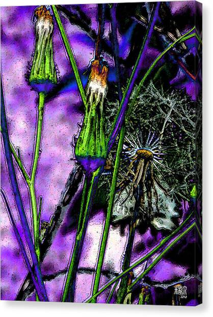 Earth Nail Canvas Print by Michele Caporaso