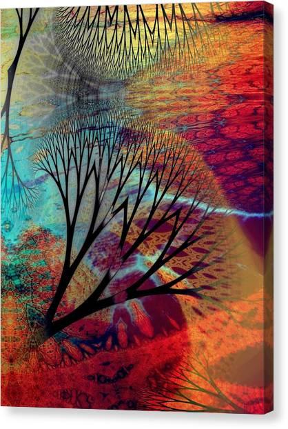 Earth Song 10 Canvas Print by Helene Kippert