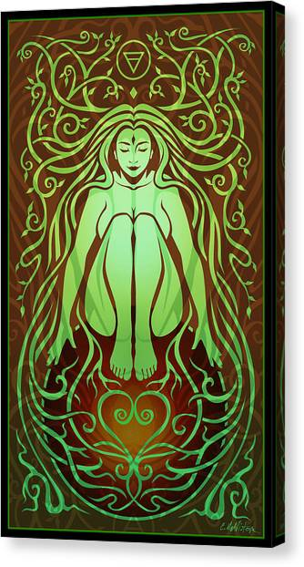 Art Nouveau Canvas Print - Earth Spirit by Cristina McAllister