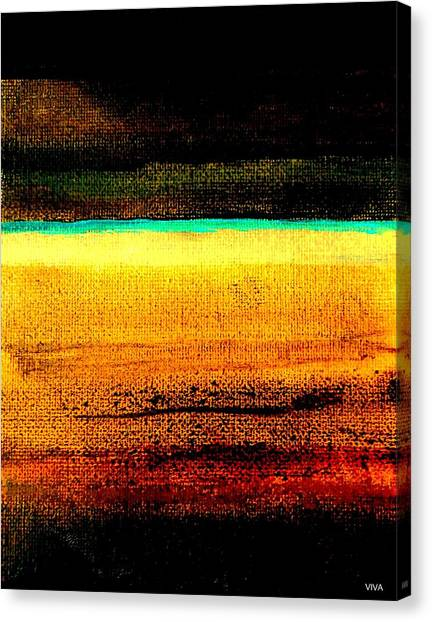 Canvas Print featuring the painting Earth Stories Abstract by VIVA Anderson