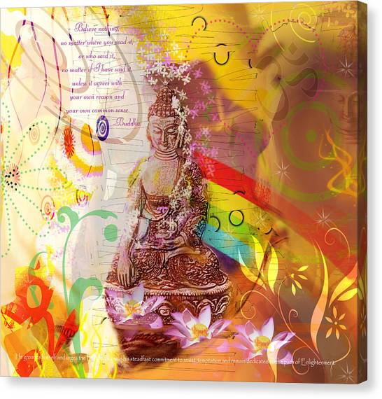 Earth Touching Buddha Canvas Print