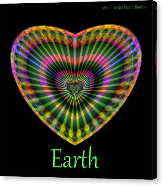 Canvas Print featuring the digital art Earth by Visual Artist Frank Bonilla
