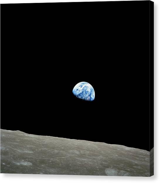 Pic Canvas Print - Earthrise - The Original Apollo 8 Color Photograph by Nasa