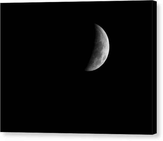 Earth's Shadow Canvas Print