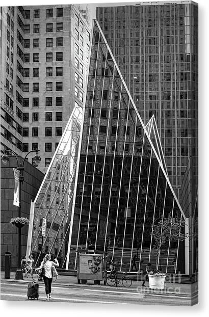 East 42nd Street, New York City  -17663-bw Canvas Print