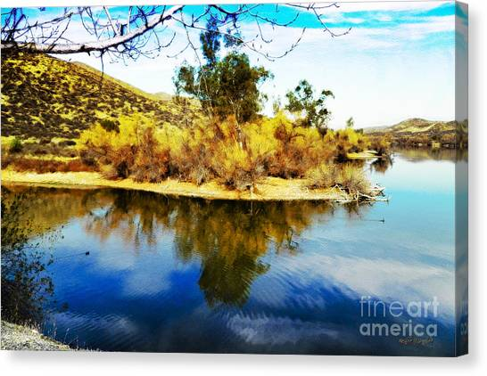 Canvas Print featuring the photograph East Bay, Canyon Lake, Ca by Rhonda Strickland