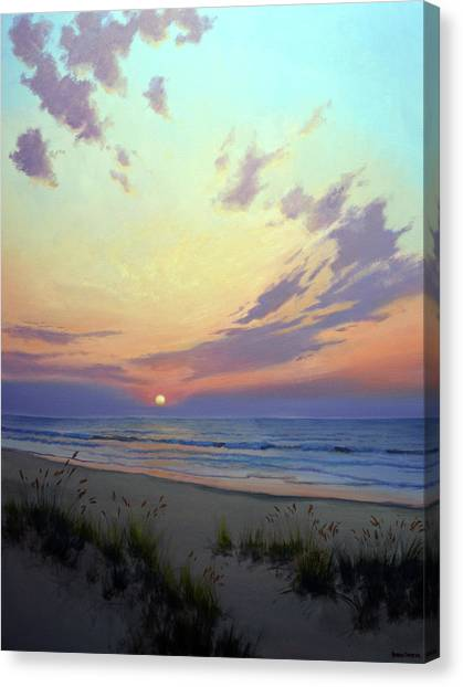 Ocean Sunrises Canvas Print - East Beach Sunrise by Armand Cabrera