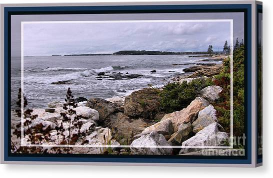 East Boothbay, Maine Ocean View, Framed Canvas Print by Sandra Huston