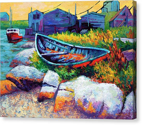Wooden Canvas Print - East Coast Boat by Marion Rose