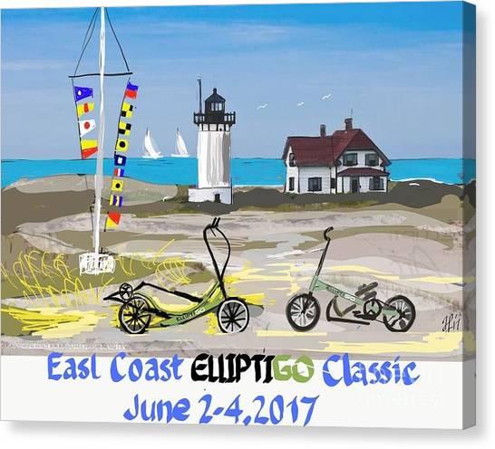 East Coast Elliptigo Classic  Opus 3 Canvas Print