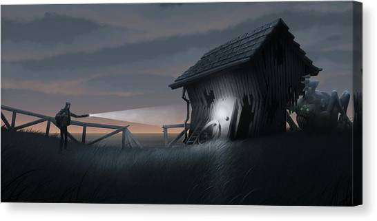Barns Canvas Print - East Coast Fear by Matt Akin