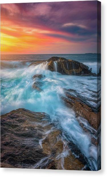 Ocean Sunrises Canvas Print - East Coast Light Flow by Darren White