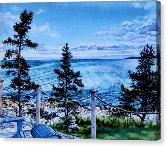 Nova Scotia Canvas Print - East Coast Ocean View by Hanne Lore Koehler
