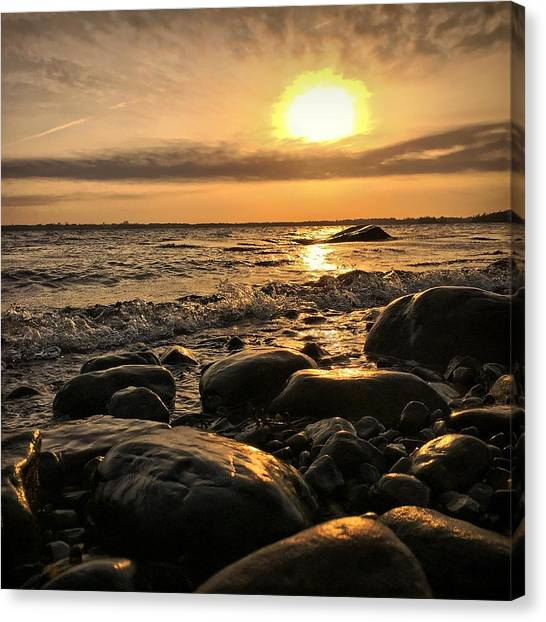 Nova Scotia Canvas Print - East Coast Sunset 1 by Christine Sharp