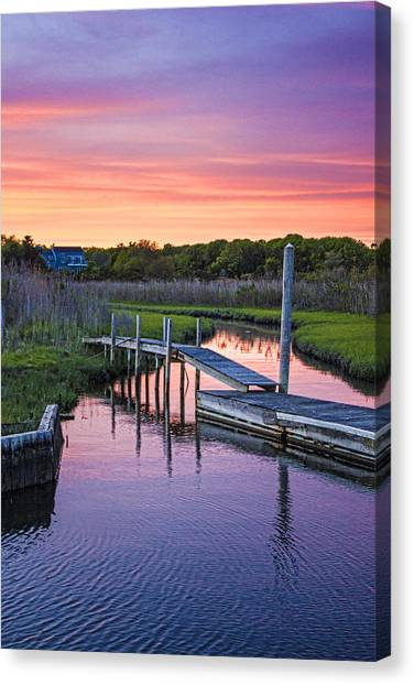 East Moriches Sunset Canvas Print