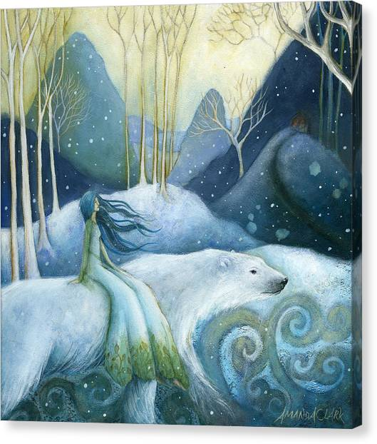 Fabled Canvas Print - East Of The Sun West Of The Moon by Amanda Clark